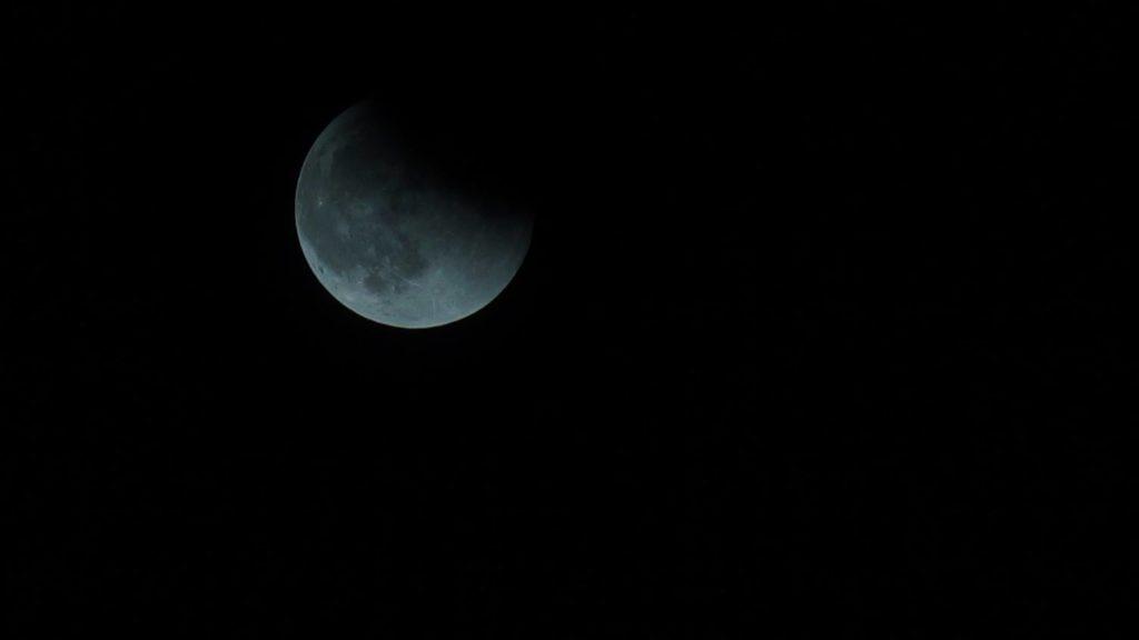 Moon, partial eclipse